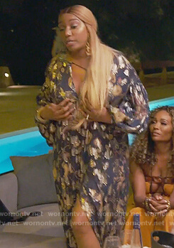 Nene's blue metallic dress on The Real Housewives of Atlanta