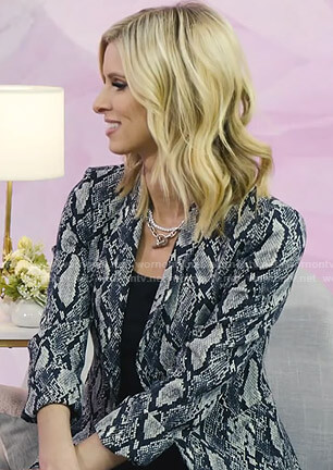 Nicky Hilton's grey snake print jacket on Today