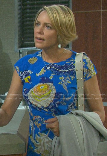 Nicole's blue floral dress on Days of our Lives