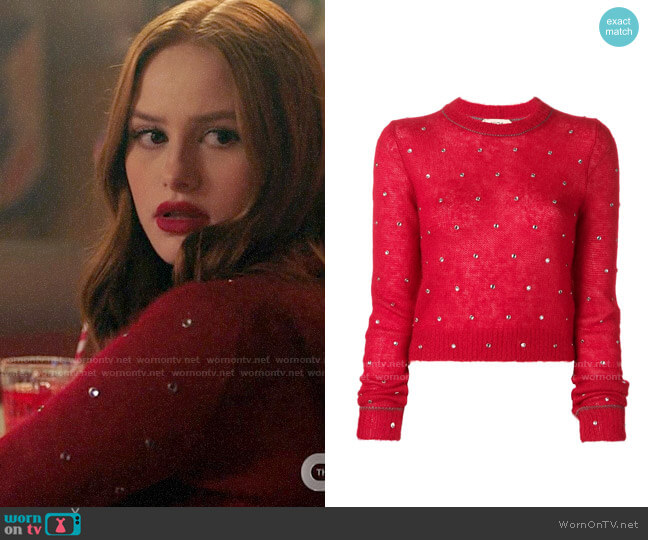No. 21 Crystal Embellished Jumper worn by Cheryl Blossom (Madelaine Petsch) on Riverdale