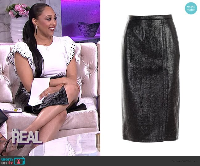Pencil Skirt with Deep Slit by Nº21 worn by Tamera Mowry  on The Real