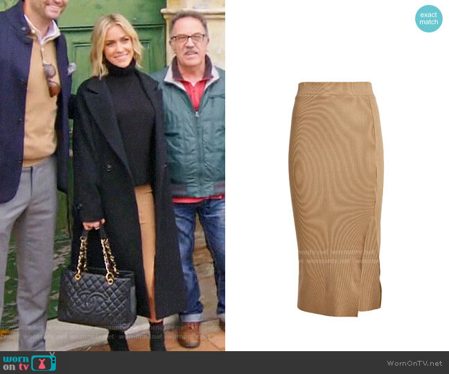 NSF Ribbed Knit Midi Skirt worn by Kristin Cavallari  on Very Cavallari