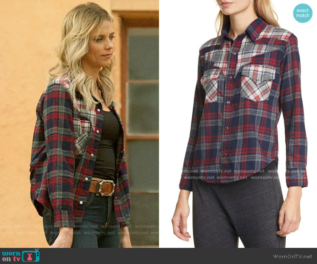 NSF Teagan Western Shirt worn by Jenna Cameron (Riley Voelkel) on Roswell New Mexico