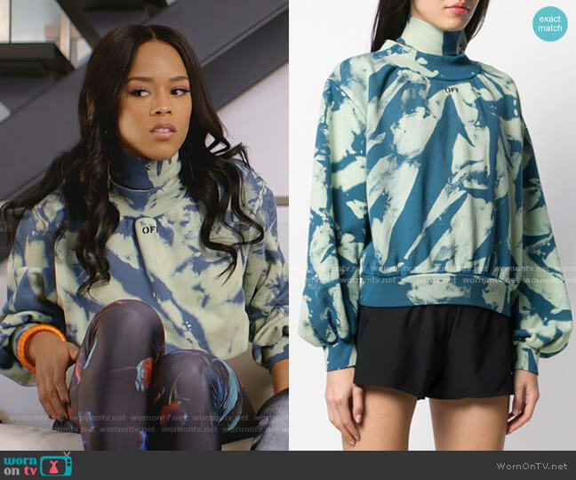 Tie-Dye Gathered Sweatshirt by Off-White worn by Tiana Brown (Serayah McNeill) on Empire