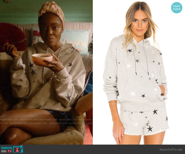 Pam & Gela Pleat Back Star Hoodie worn by Josie McCoy (Ashleigh Murray) on Katy Keene