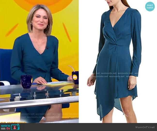 Asymmetrical Midi Dress by Parker worn by Amy Robach  on Good Morning America