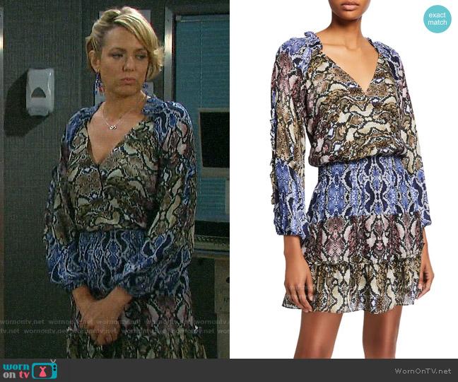 Parker Gladis Python-Print Dress worn by Nicole Walker (Arianne Zucker) on Days of our Lives