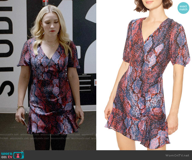 Parker Soliana Dress in Serpentina worn by Roxy Doyle (Emily Osment) on Almost Family