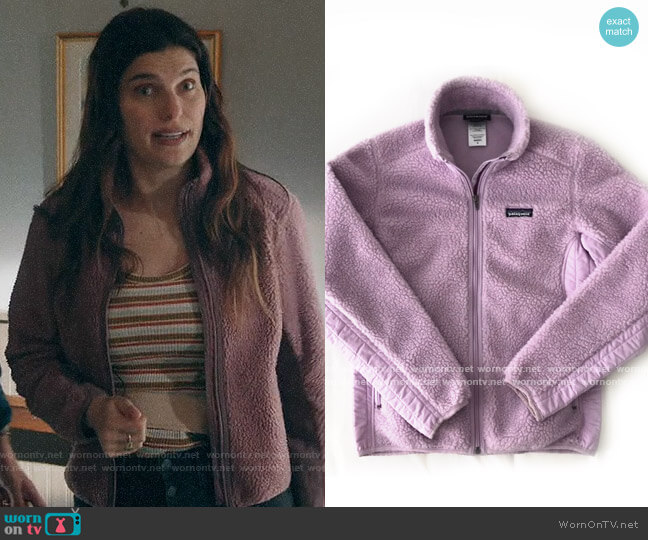 Patagonia Fleece Jacket worn by Rio (Lake Bell) on Bless This Mess