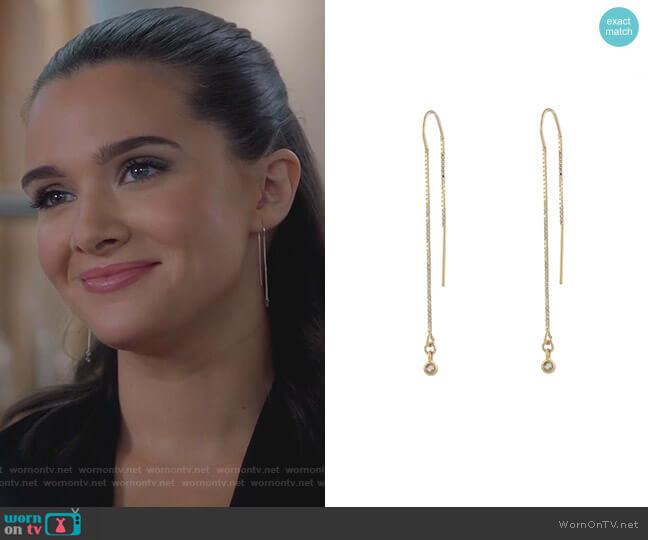 Diamond Ear Threads by Peggy Li worn by Jane Sloan (Katie Stevens) on The Bold Type