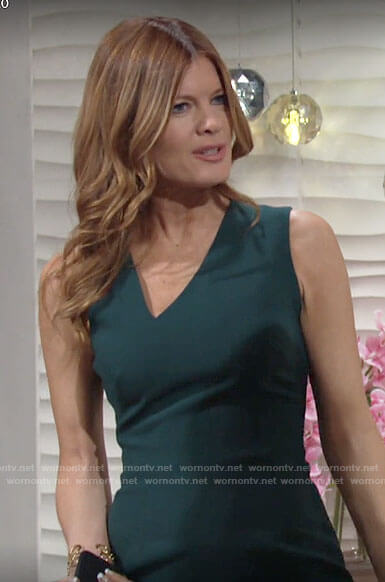 Phyllis's green sleeveless v-neck dress on The Young and the Restless