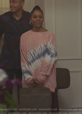 Simone's pink tie dye sweater on All American
