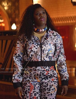 Porsha's graphic print jacket and leopard pants on Empire