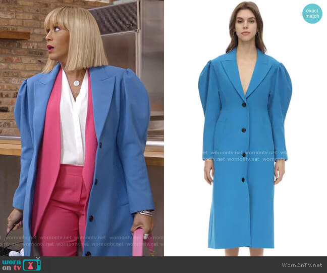 Techno Coat with Puff Sleeves by Pushbutton worn by Giselle (Nicole Ari Parker) on Empire