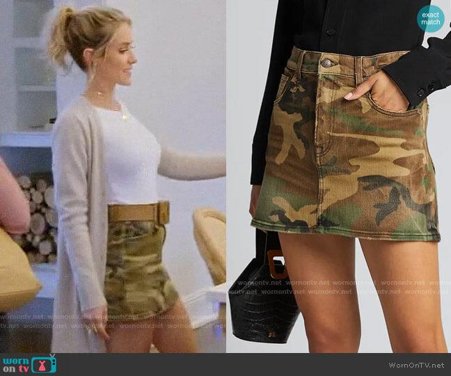 R13 High-Rise Camo-Print Midi Skirt worn by Kristin Cavallari  on Very Cavallari