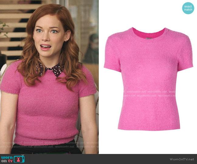 Short Sleeved Sweatshirt by Rachel Comey worn by Zoey Clarke (Jane Levy) on Zoeys Extraordinary Playlist