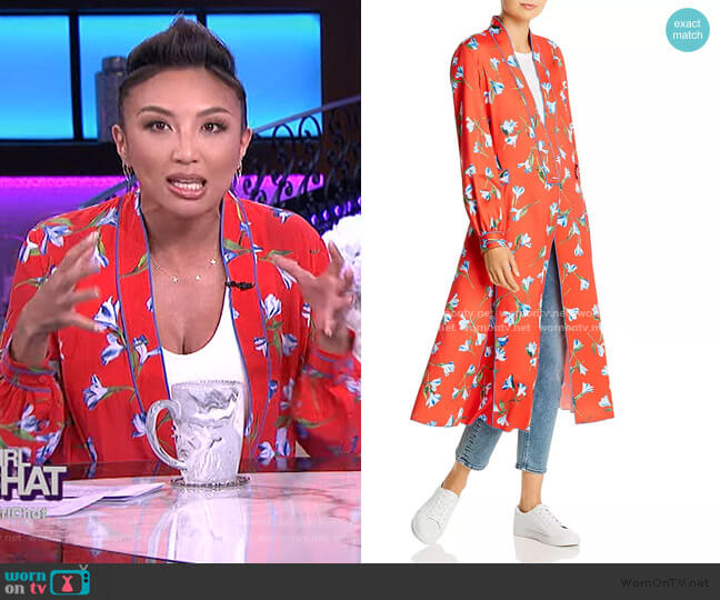 Hugo Floral-Print Jacket Dress by Rag & Bone worn by Jeannie Mai  on The Real