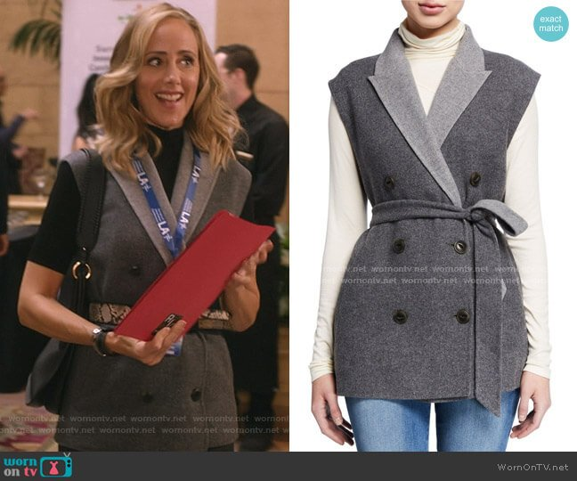 Pearson Vest by Rag & Bone worn by Teddy Altman (Kim Raver) on Greys Anatomy