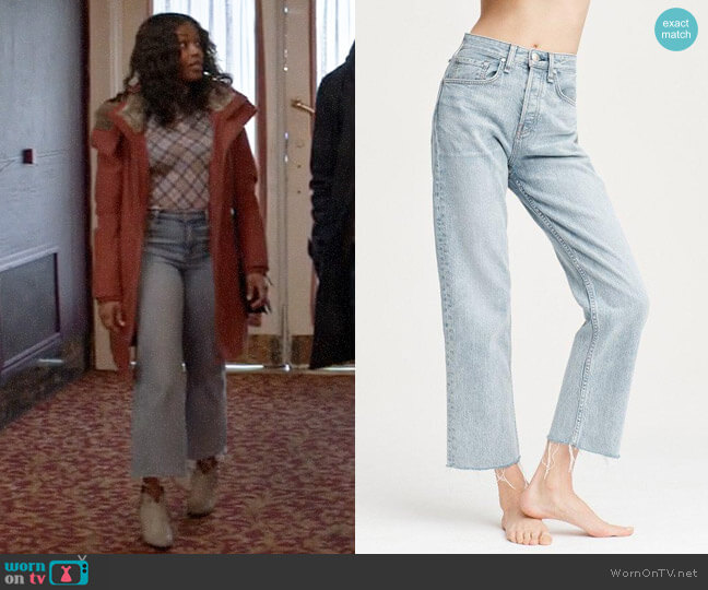 Rag & Bone Maya Jeans in Icy Blue worn by Ali Finer (Javicia Leslie) on God Friended Me