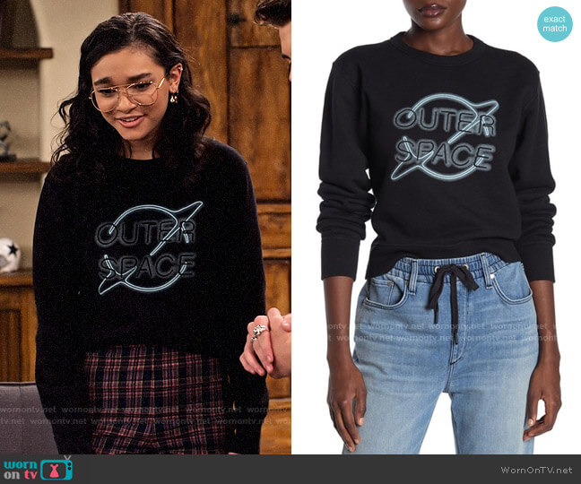 Rag & Bone Outer Space Sweatshirt worn by Ashley Garcia (Paulina Chávez) on The Expanding Universe of Ashley Garcia