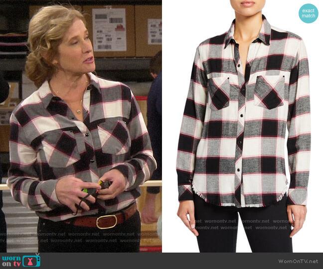 Rails Leo Shirt worn by Vanessa Baxter (Nancy Travis) on Last Man Standing