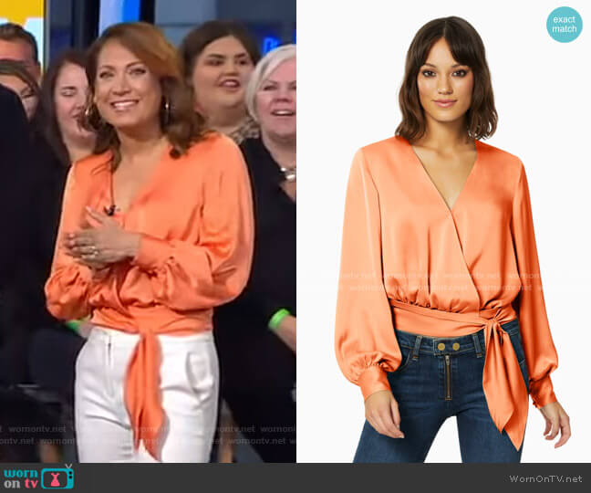 Analiese Top by Ramy Brook worn by Ginger Zee  on Good Morning America