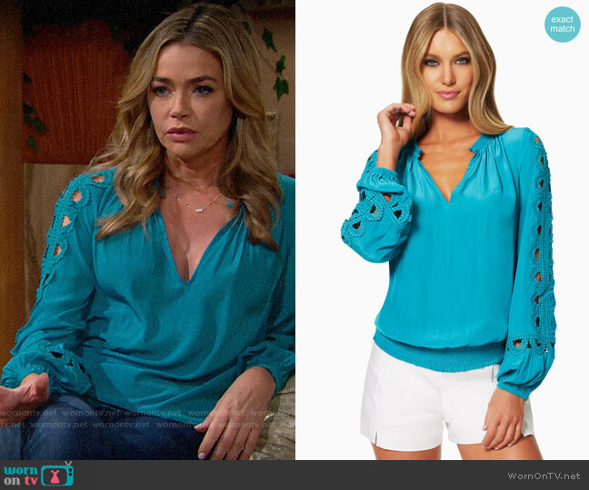 Ramy Brook Brittany Blouse worn by Shauna Fulton (Denise Richards) on The Bold & the Beautiful