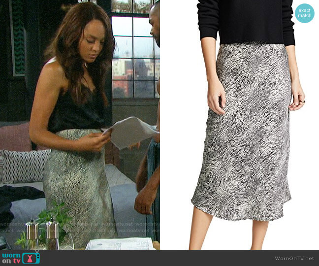re:named Leopard Midi Skirt worn by Lani Price (Sal Stowers) on Days of our Lives