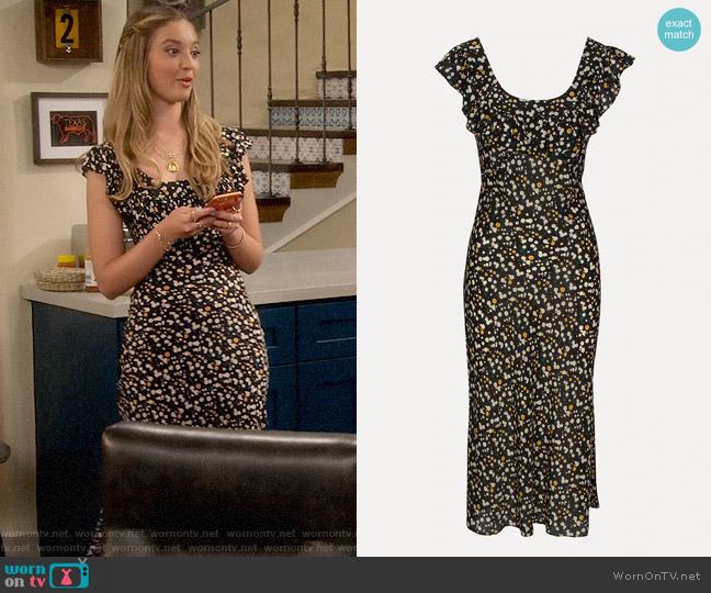 Realisation Par The Lou Dress in Milky Way worn by Brooke Bishop (Bella Podaras) on The Expanding Universe of Ashley Garcia