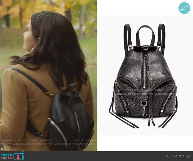 Convertible Mini Julian Backpack by Rebecca Minkoff worn by Jane Sloan (Katie Stevens) on The Bold Type