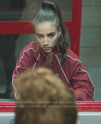 Rebeca's red Lacoste Jacket on Elite