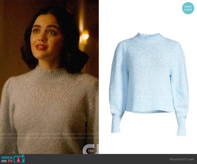 Rebecca Taylor Optic Tweed Pullover worn by Katy Keene (Lucy Hale) on Katy Keene