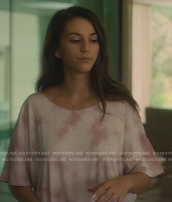 Rebeca's pink tie dye tee on Elite