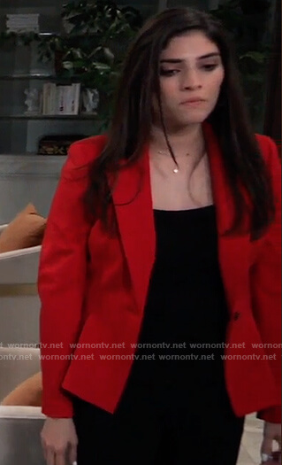 Brook Lynn's red peplum blazer on General Hospital