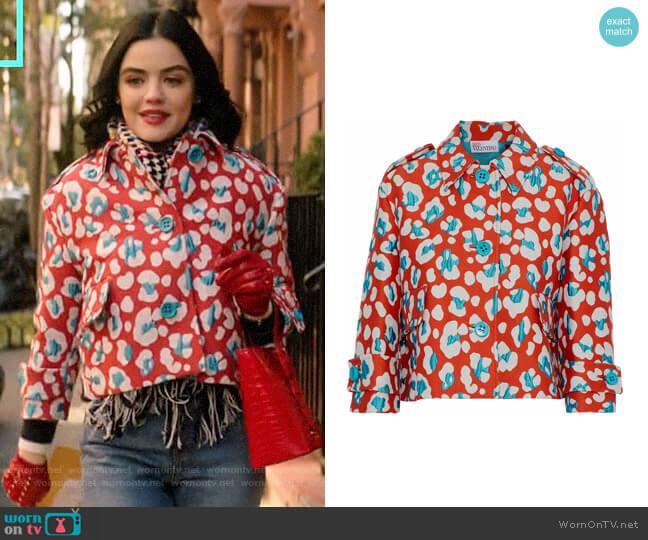 RED Valentino Cotton-blend jacquard jacket worn by Katy Keene (Lucy Hale) on Katy Keene