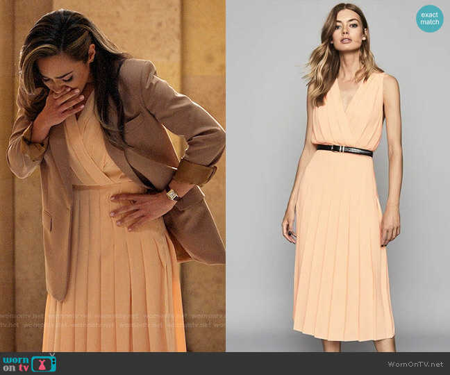 Reiss Mariona Dress worn by Emily Lopez (Jessica Camacho) on All Rise