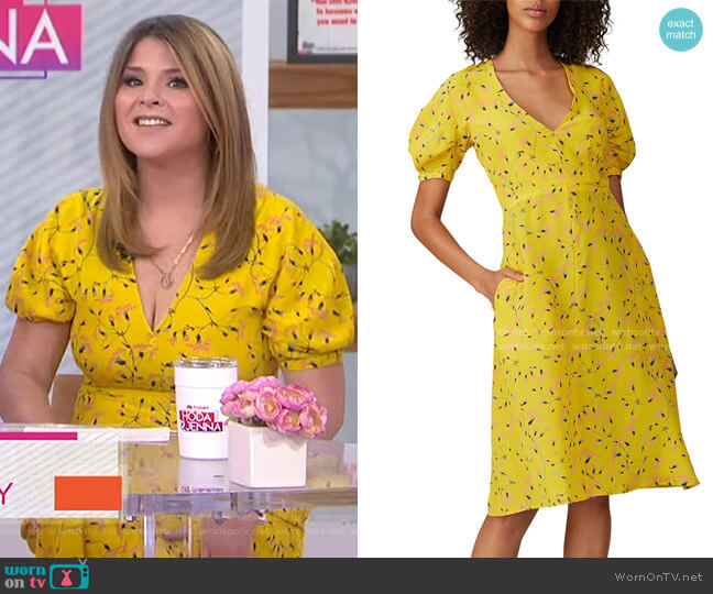 Floral Short Sleeve Dress by Rochas worn by Jenna Bush Hager  on Today