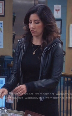 Rosa's hooded leather jacket on Brooklyn Nine-Nine