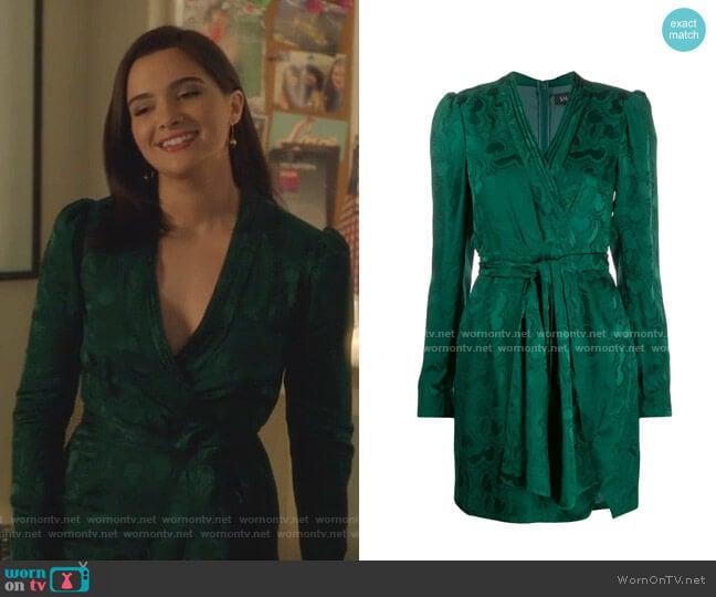 Bibi Wrap Dress by Saloni worn by Jane Sloan (Katie Stevens) on The Bold Type