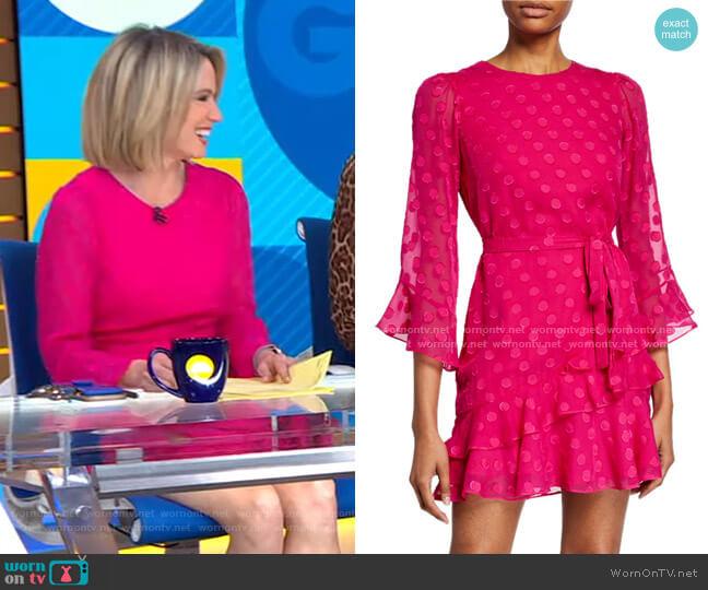 Marissa B Polka Dot Mini Dress by Saloni worn by Amy Robach  on Good Morning America