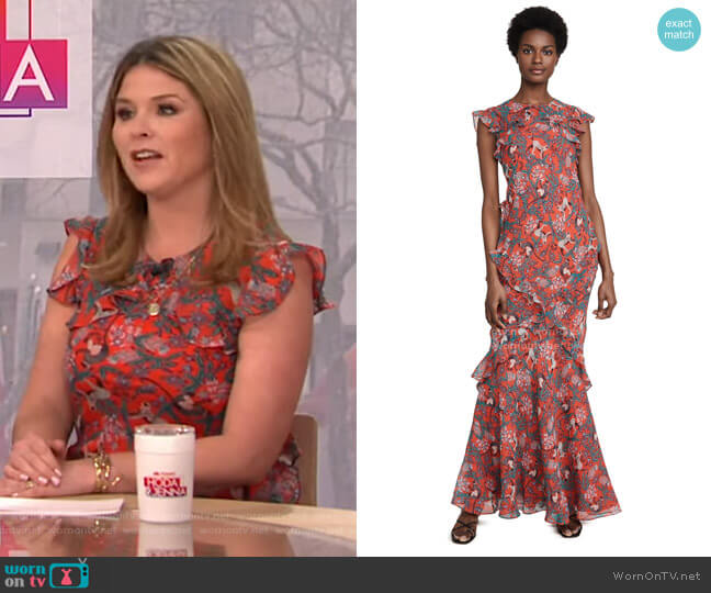 Tamara-B Dress by Saloni worn by Jenna Bush Hager  on Today