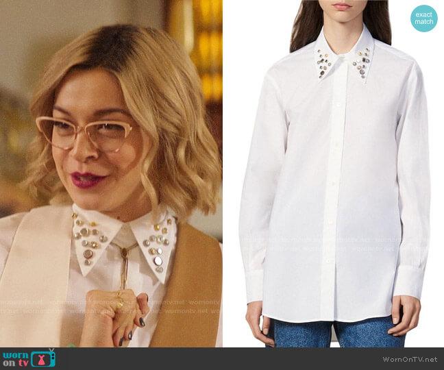 Sandro Anji Shirt worn by Pepper Smith (Julia Chan) on Katy Keene