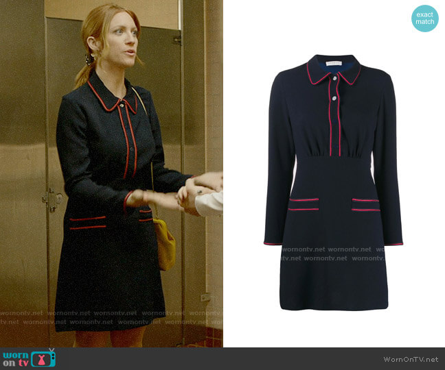 Sandro Two Tone Shirt Dress worn by Julia Bechley (Brittany Snow) on Almost Family