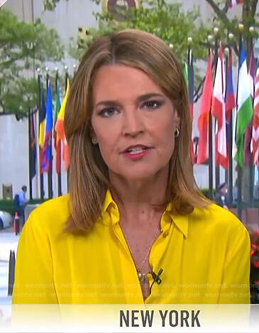 Savannah's yellow blouse on Today