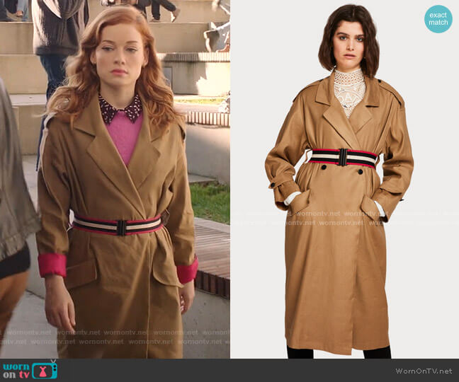 Longline Trench Coat by Scotch and Soda worn by Zoey Clarke (Jane Levy) on Zoeys Extraordinary Playlist