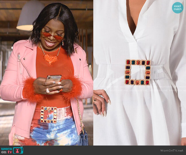 Anya Jeweled Belt by Akira Label worn by Porsha Taylor (Ta'Rhonda Jones) on Empire