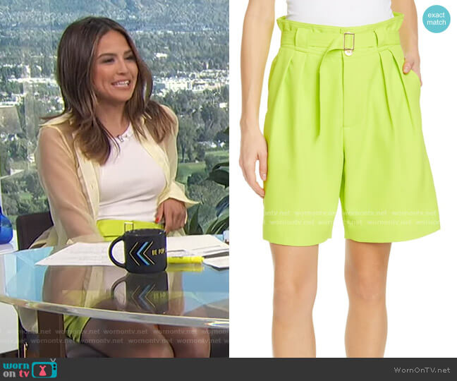 Rost Belted Shorts by Simon Miller worn by Erin Lim  on E! News