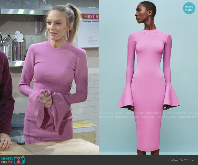 Solace London Corvo Dress worn by Abby Newman (Melissa Ordway) on The Young & the Restless
