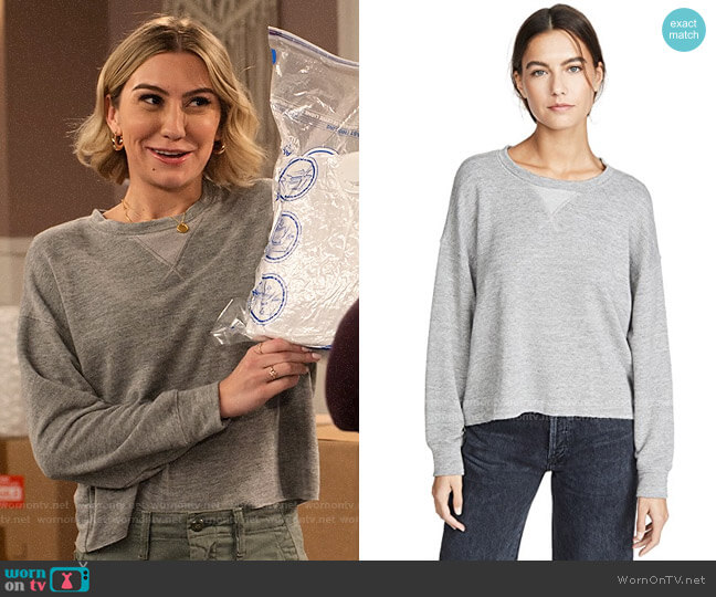 Splendid Marathon Sweatshirt worn by Ava Germaine (Chelsea Kane) on The Expanding Universe of Ashley Garcia