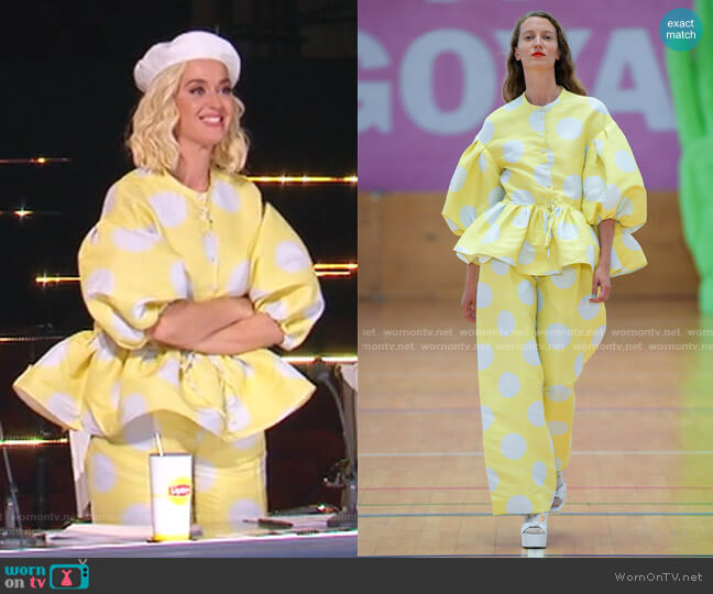 Ferrah Showpiece Top and Chet Showpiece Pants by Stine Goya worn by Katy Perry  on American Idol